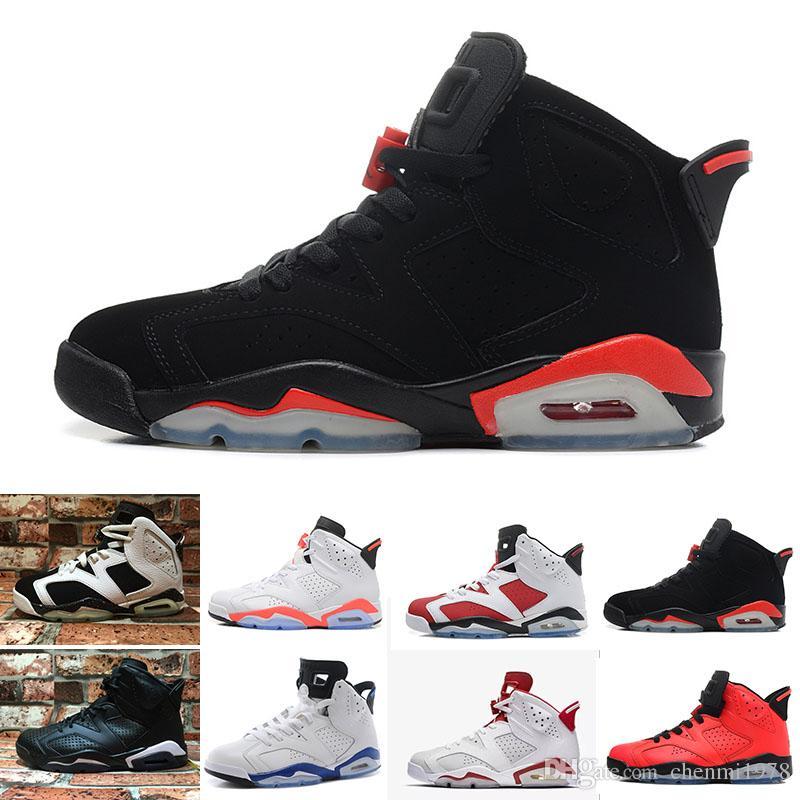 9bba7a1c4b4c Compre Nike Air Jordan 1 4 6 11 12 13 Retro 6 Zapatos De Baloncesto Carmine  Classic 6s Negro Blanco Infrarrojo UNC Azul Cromo Bajo Oreo Hombres Mujeres  ...