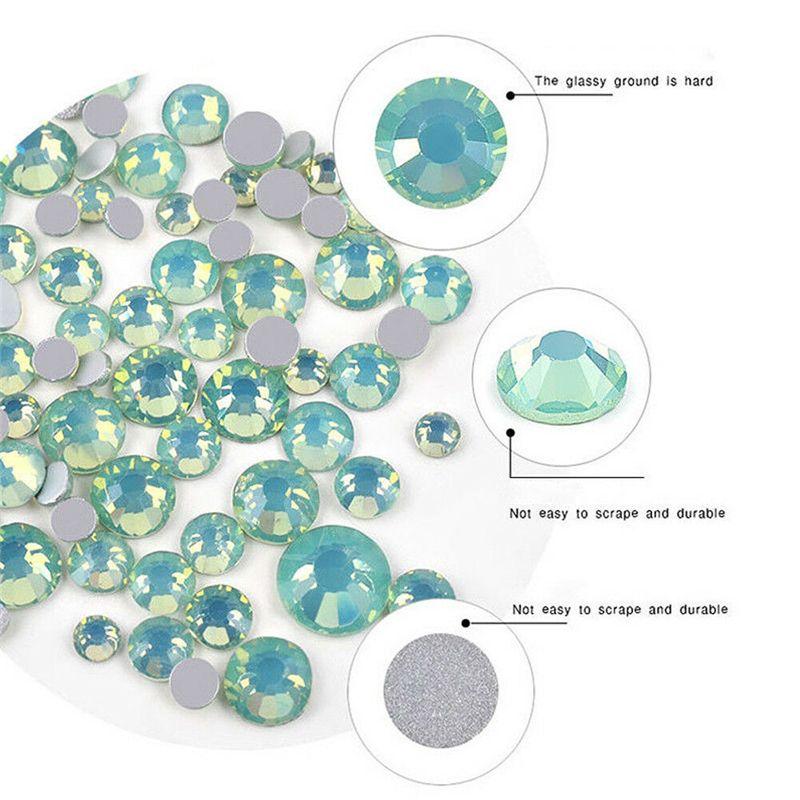 مسمار الفن 3D DIY أحجار الراين زينة مجوهرات الأحجار الكريمة ميكس مسمار فن الديكور بريق حبة