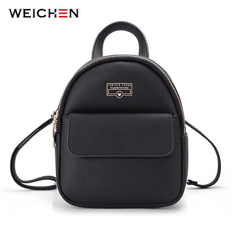 Weichen Brand Designer Fashion Mini Backpack Female Leather Women Backpack Multi-function Ladies Small Shoulder Bag High Quality Y19061204