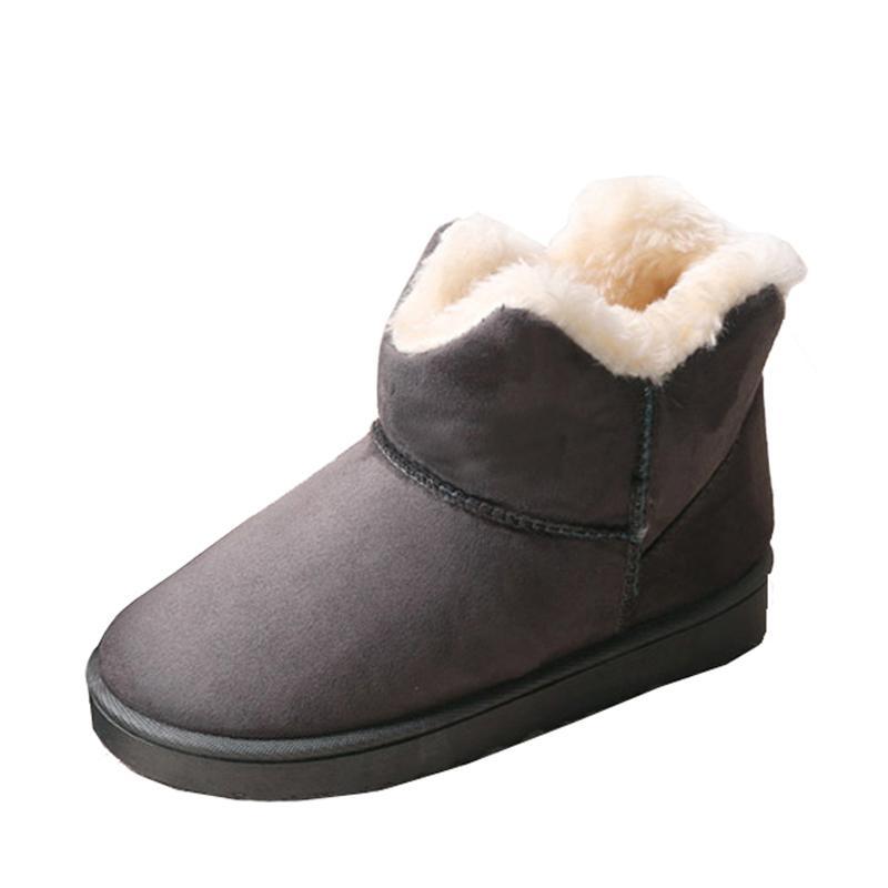 nueva especiales precio bajo Moda Botas de mujer Resbalón en botines de piel caliente Botas de nieve de  invierno Botas femeninas Femininas Mujer zapatos casuales