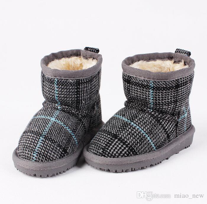 809f346a9 Compre Niños Bebé Niño Zapatos Para Niños Invierno Cálido Botas De Nieve  Zapatos De Felpa Gruesa Suela Niños Niñas Botas De Nieve Zapatos Tamaño  Grande 26 ...