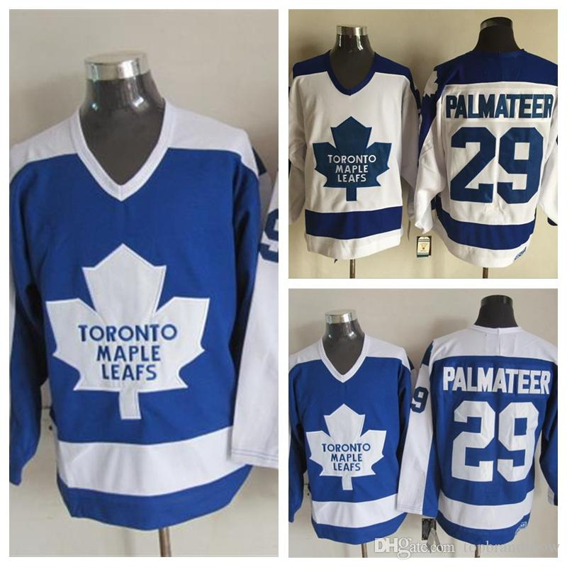 2019 100% Embroidery Mens  29 Mike Palmateer Jerseys Cheap Vintage Toronto  Maple Leafs Jersey 29 Mike Palmateer Hockey Jerseys Stitched Shirts From ... 9f142043588