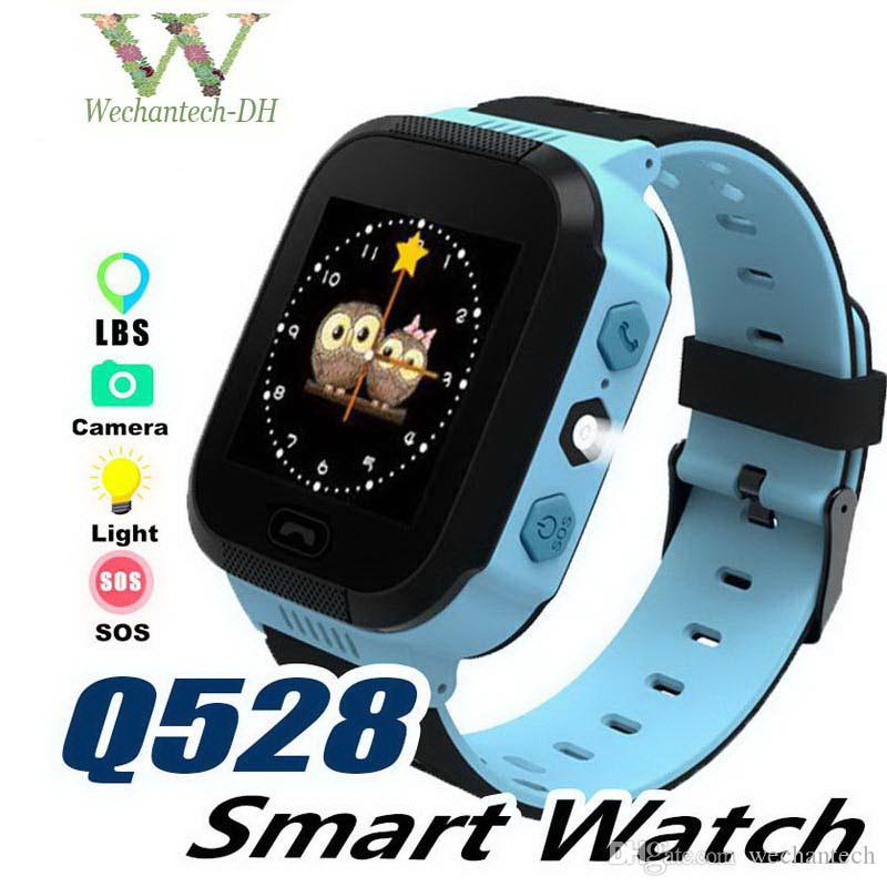 Touch Screen Q528 LBS Tracker Bracelet Anti-lost Children Kids Smart watch LBS Tracker Wrist Watchs SOS Call For Android IOS