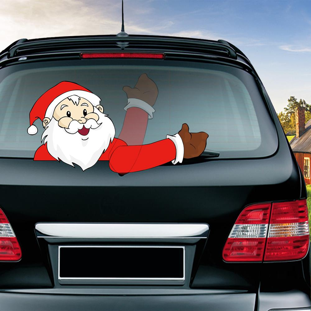 7dbe63864d5aa Panda With Santa Hat Waving Wiper Decals PVC Car Styling Rear Window Wiper  Stickers Windshield Stickers Car Stickers And Decals Canada 2019 From  Out2244
