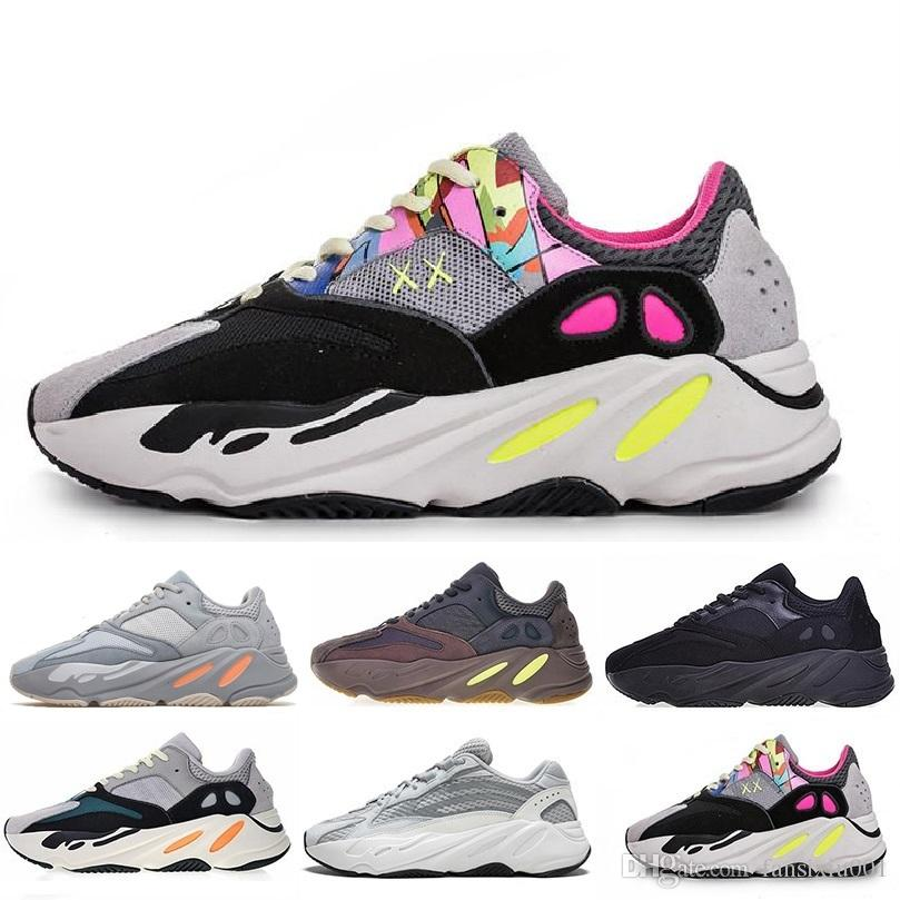 c1a93fa52 2019 Mauve 700 Wave Runner Mens Women Designers Sneakers 700 V2 Static Best  Quality Kanye West Sport Running Shoes 5 11.5 On Running Shoes Best Womens  ...