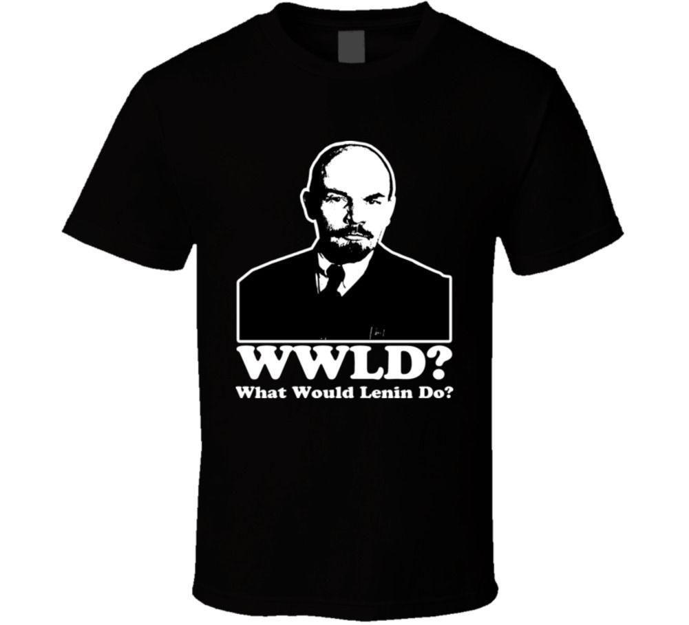 Erkek Tasarımcı T Shirt Gömlek Lenin Wwjd Lenin Ne Yapmalı Lenin