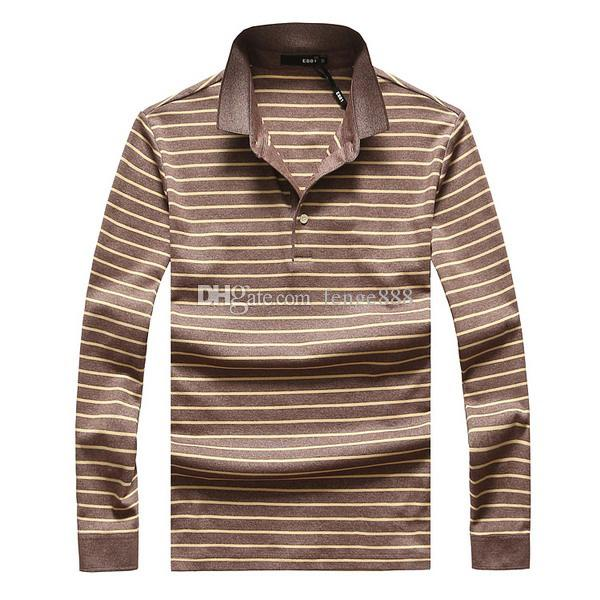 2020 autumn and winter new high quality mens fashion stripe long sleeved POLO shirt casual mens polo shirts Designer polo size M-3XL