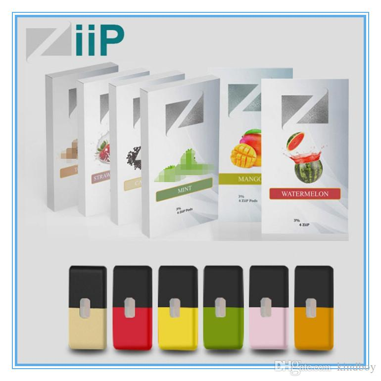 Original Prefilled 1ML ZiiP ZPods In All Flavor Cartridge Pods For JUUL  device /vape/Start Kit 4 pods in one pack refillable cartridge DHL