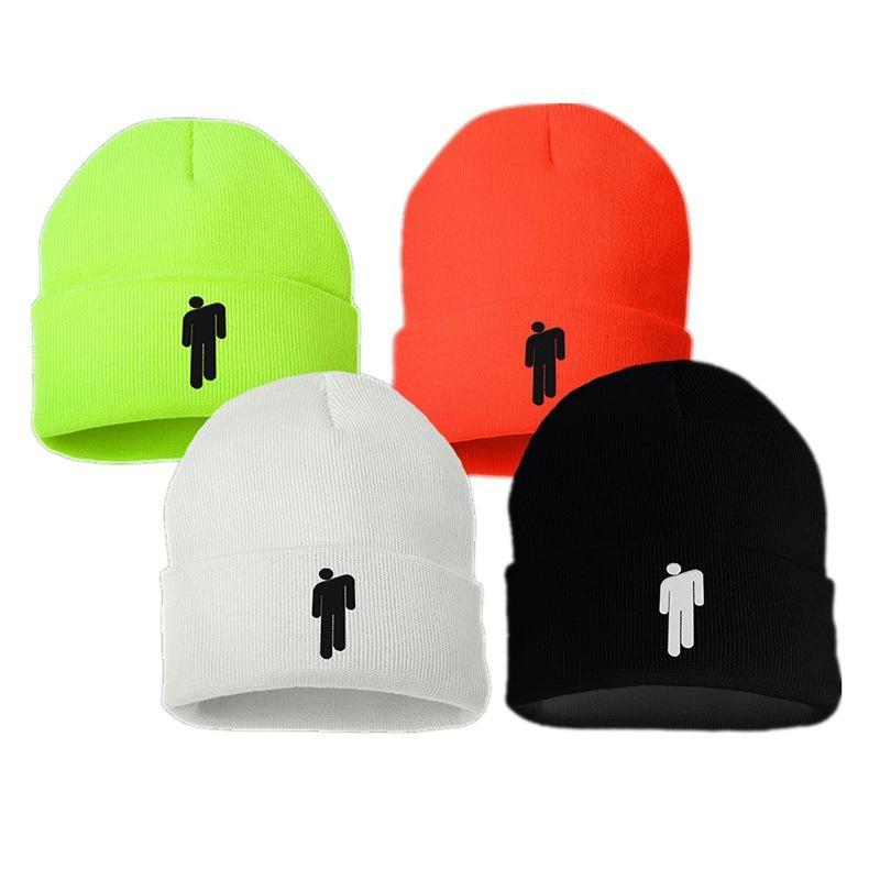 6e6d13551f39 Billie Eilish Algodón Gorros casuales para hombres Mujeres de punto  Sombrero de invierno Sólido Hip-hop Skullies Capo Unisex Cap LE264