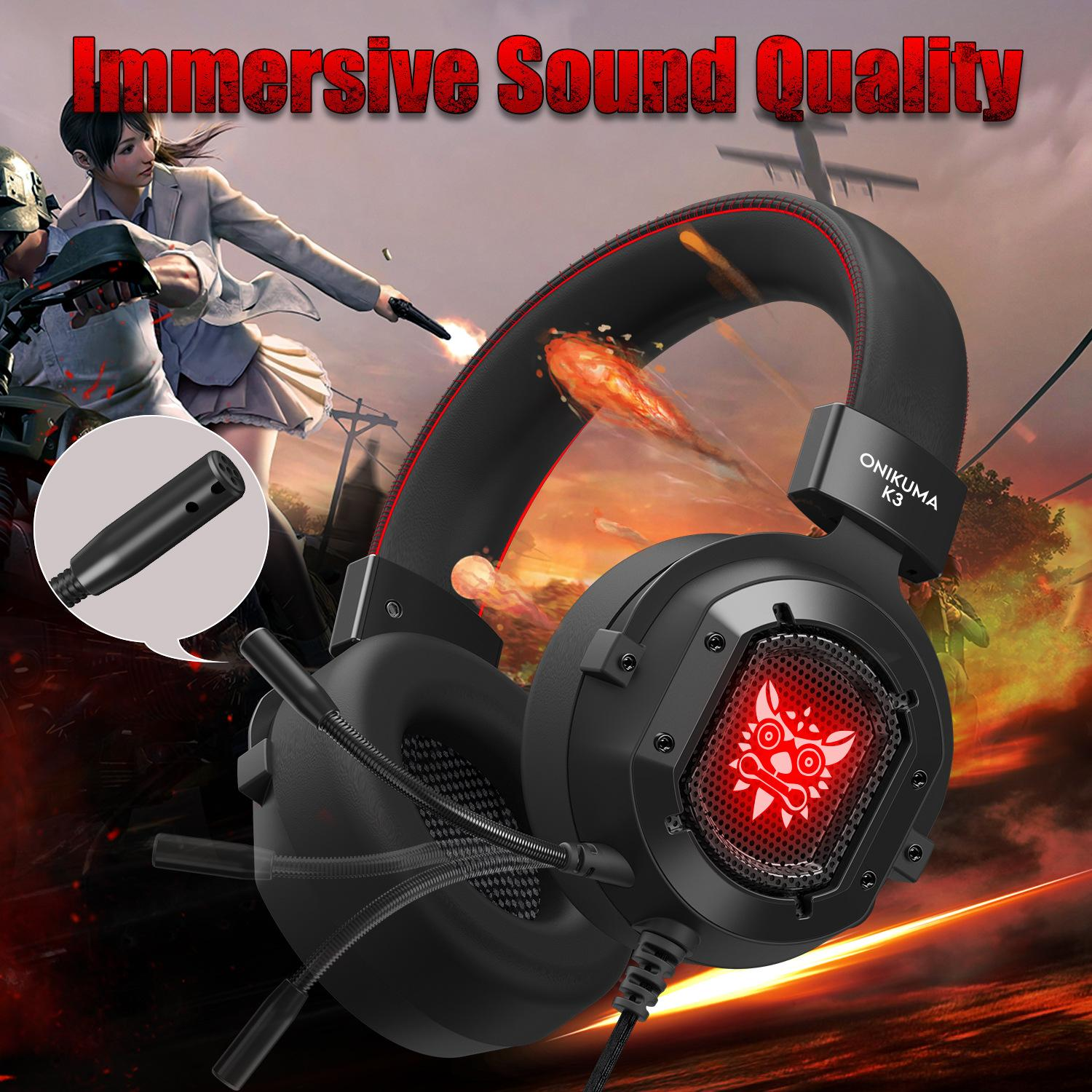 Onikuma K3 Gaming Headset Casque Stereo Game Headphones Earphone