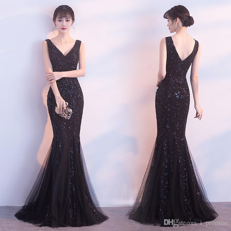 abe77939d2 Sexy Mermaid Prom Dresses Long Evening Gowns V Neck Special Occasion Dresses  Red Black Gold Floor Length Formal Party Evening Dress Prom Dresses 2015  Short ...