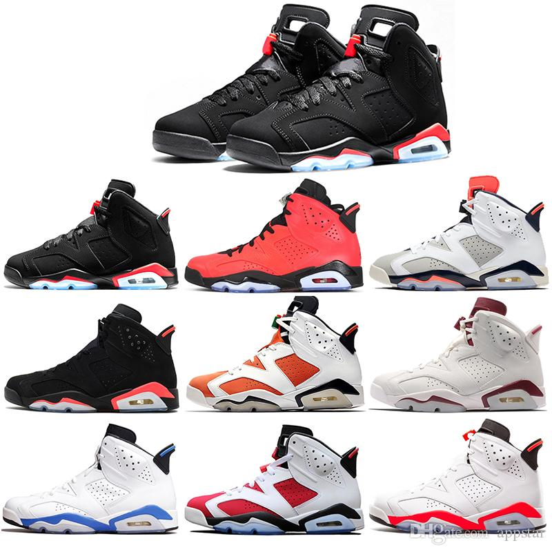 0680221ea8a217 2019 6 Basketball Shoes Classic 6s UNC Black Red White Infrared Low Chrome  Women Men Sport Blue Red Oreo Alternate Oreo Black Cat From Appstar