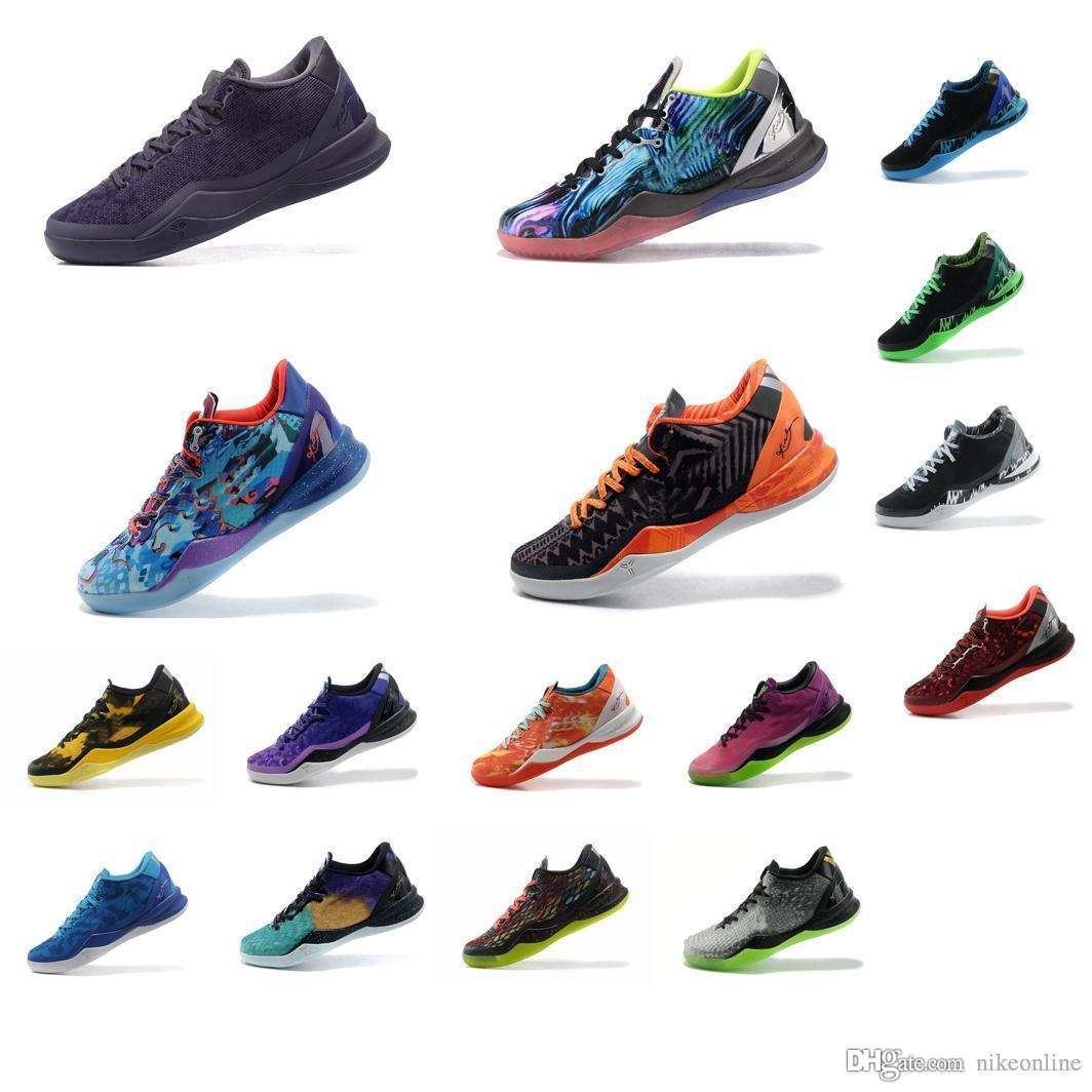 8c9a19d2ae28 2019 Cheap Mens What The Kobe VIII 8 Low Tops Basketball Shoes FTB Grey BHM  Easter Christmas Prelude Blue Air Flights KB Sneakers Boots For Sale From  ...