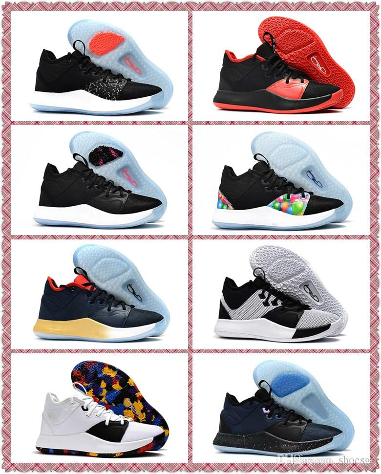 reputable site 69167 6cc52 2019 NEW Paul George PG 3 Basketball Shoes Cheap PG3 EP Mens Designer  outdoor Sneakers Size 7-12 With Box