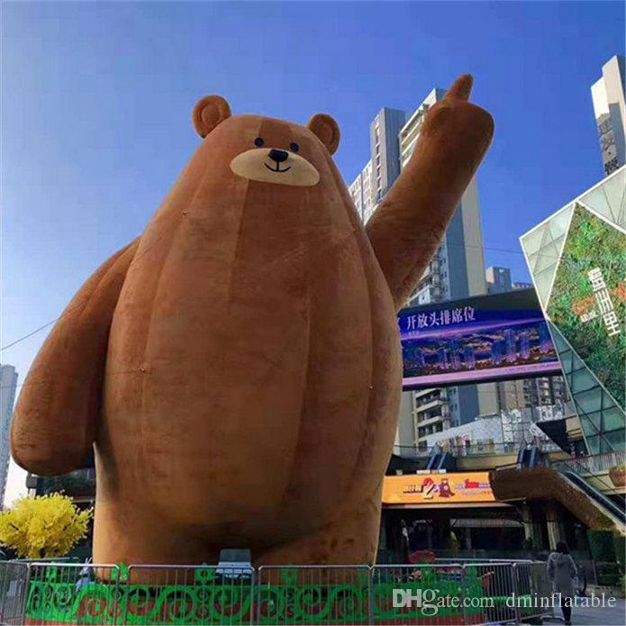 Inflatable Balloon Bear The Material Used Is Short Plush For Stage Event Decoration