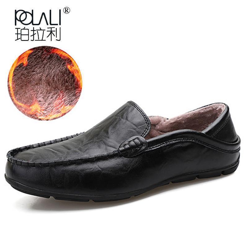 32731732ec1 Men Genuine Leather Shoes Casual Spring Moccasin Loafers Slip On Shoes Men  Leather Handmade Adult Footwear Big Size 28-57 Nice