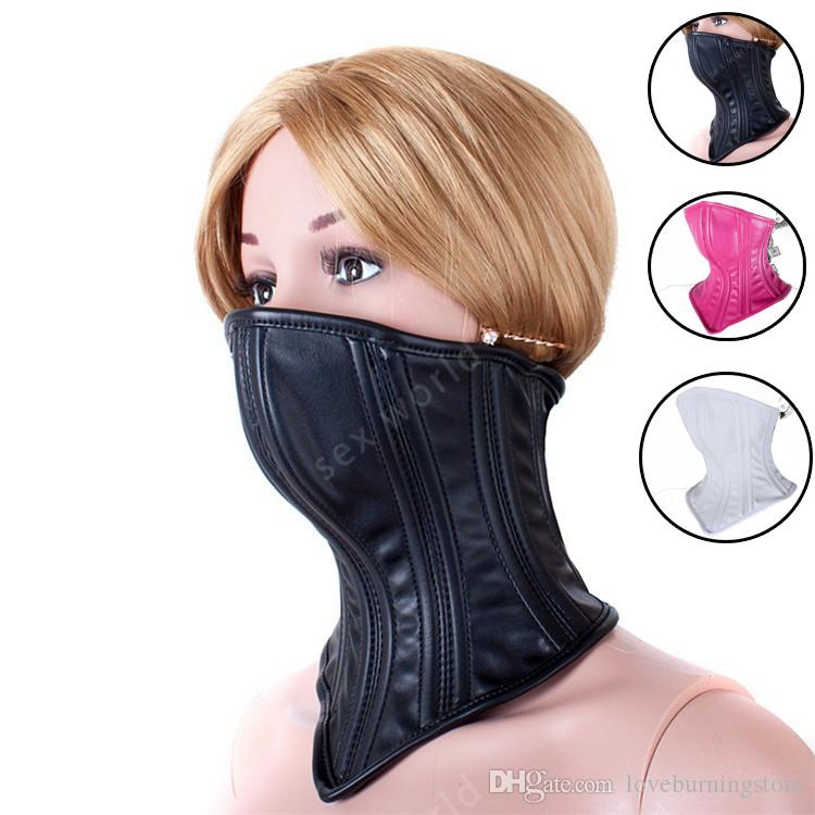 Sweet Magic Neck Collar Rings SM Bondage Role Play Muzzle Mouth Mask Adult  Erotic Rope BDSM Kinky BDSM Cosplay Sex Toys