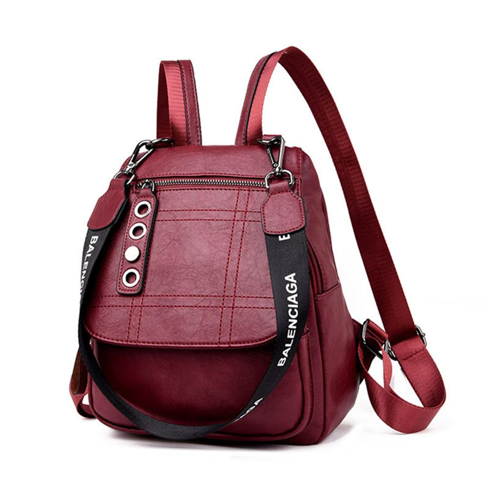 a2bba54dcb00 2019 3 In 1 Women Leather Backpacks Female Shoulder Bag Sac A Dos Travel  Ladies Bagpack Mochilas School Bags For Girls Preppy Boys Backpacks  Hydration ...