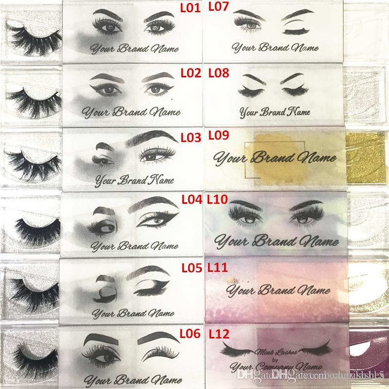 Semitransparent Logo Customized Logo and Designs for Private Sticker Label  (Used for Mink Lashes Natural 3D Mink Eyelashes False Lashes)