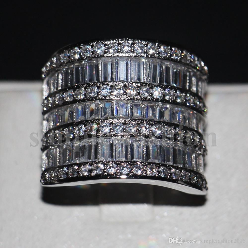 Unique Wedding Bands For Women.Unique Big Women Wedding Band Ring Cocktail Jewelry 925 Sterling Silver T Shape 5a Zircon Cz Female Engagement Ring