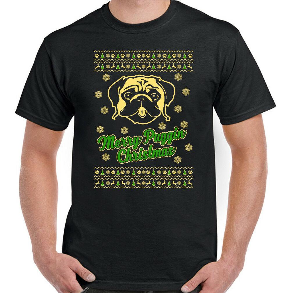 be43528d Merry Puggin Christmas Mens Funny T Shirt Pug Dog Pet Puppy Pugmas Shirt On T  Shirt Hilarious Tee Shirts From Rose87, $11.48| DHgate.Com
