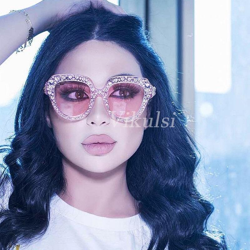 c8f53fe0918 Luxury Heart Shaped Rhinestone Sunglasses Women Crystal Eyewear 2018 Italy  Brand Designer Cat Eye Sun Glasses Women Retro Shades Sunglases Cheap  Designer ...