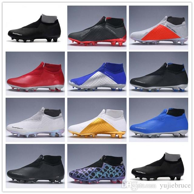 9e5abf33b9 Compre Nike Phantom Vision Elite DF FG Novos Mens Malha Alta Tornozelo  Chuteiras Fantasma Visão VSN Elite DF FG Chuteiras De Futebol Chaussures  Botas De ...