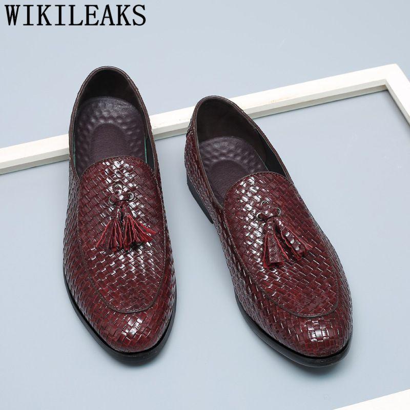 Designer Leather Shoes Loafers Tassel Oxford Mens For Men 0mnw8OyvPN
