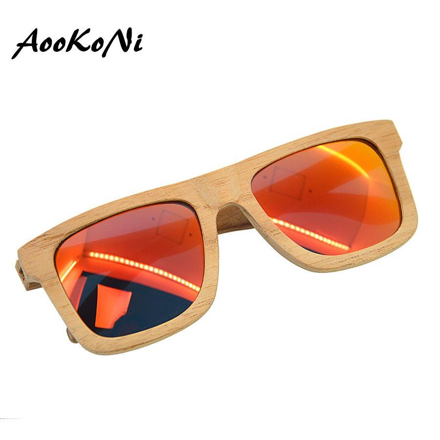 04f3fe5e9d20 Wooden Sunglasses HD Polarized Men Women Brand Designer Vintage Wood ...