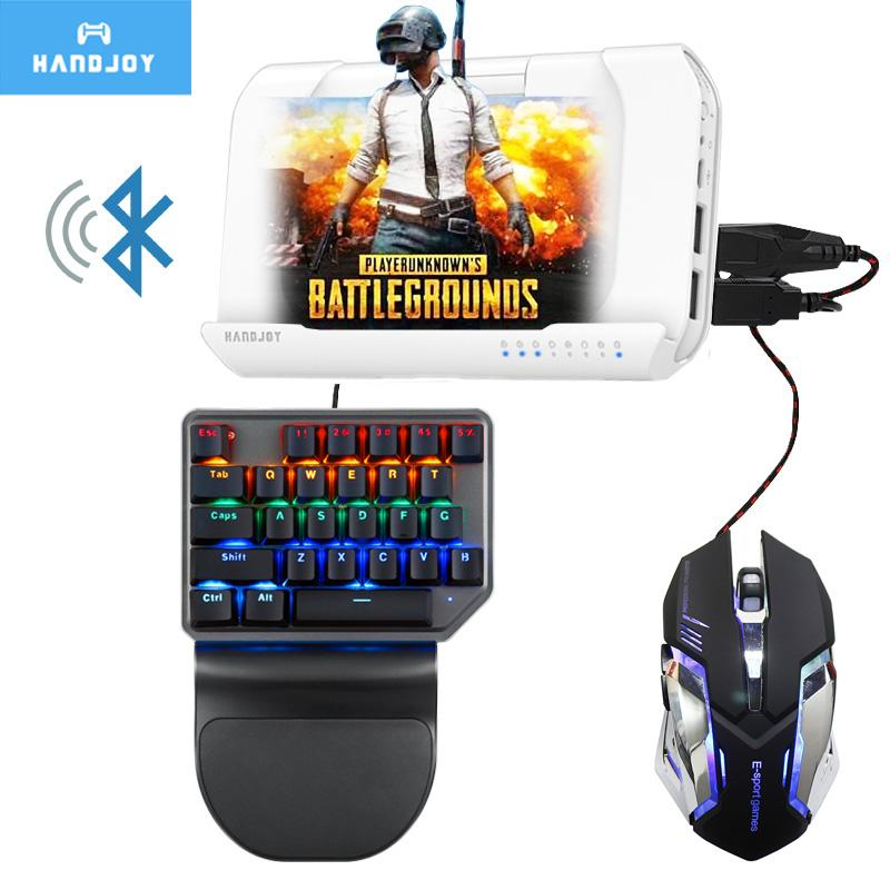 Handjoy Kmax 2 0 Bluetooth Wireless Gamepad Gaming Keyboard Mouse Android  PUBG Mobile to PC Converter Adapter Controller