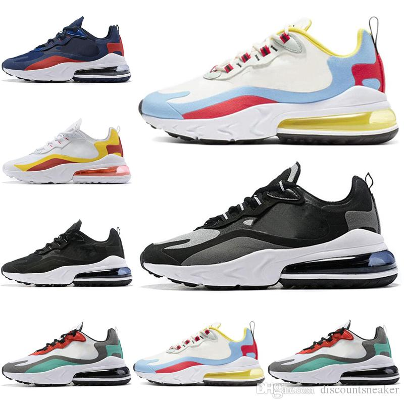Nike air max 270 react para hombre mujer blanco negro de calidad superior BAUHAUS OPTICAL para hombre zapatillas deportivas transpirables 40 45