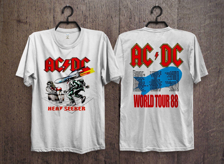 de20c55ffac261 Intage 80s AC DC Heat Seeker Concert Promo T ALICE IN CHAINS TRI CELL BLACK T  SHIRT NEW OFFICIAL ADULT Men Women Unisex Fashion Tshirt Shirt Shirts Buy  Tees ...