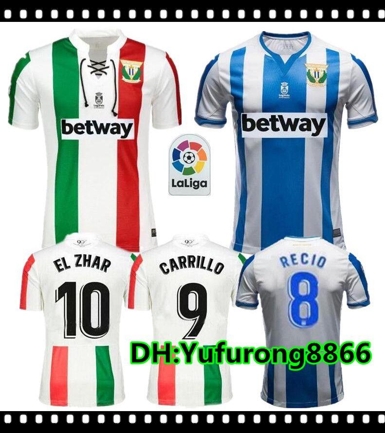 2019 Leganes Soccer Jersey 18 19 Home Blue J. SILVA EN-NESYRI SANTOS Soccer  Shirt EL ZHAR JUANFRAN DANI OJEDA ROLAN Football Uniform Leganes Soccer  Jersey ... f2ed96203