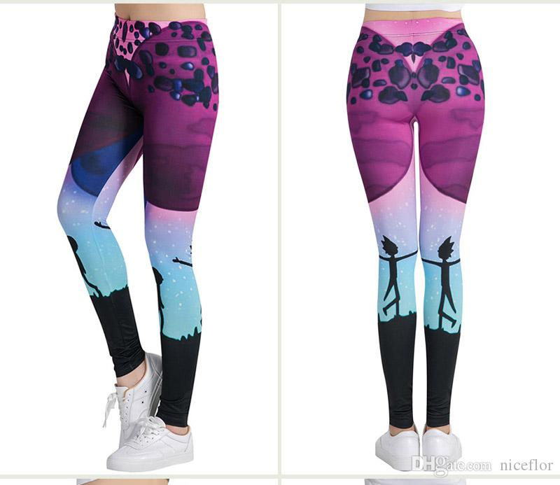 3d5093aaa1cb4 2019 Yoga Pants Cartoon Rick And Morty Printing Fitness High Elastic  Leggings Pilates Skinny Mention Hip Trousers High Waist Thin Women Girl  From Niceflor, ...