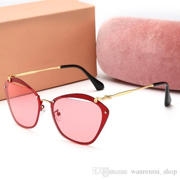0104 Top quality Glass lens Polit Fashion Sunglasses UV Protection Men Women Brand Designer Vintage Sport Sun glasses With box