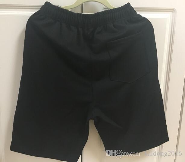 Nuovi uomini casuale solido Beach Pantaloncini fitness pantaloni di cotone pantaloni della tuta fitness Maglia tecnica Breve Jogger Palestra dello Swimwear dei tronchi nero M-XXL