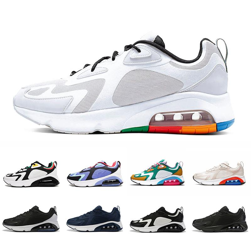 Newest White Black 200 Mens Running Shoes 200s Bordeaux Blue Desert Sand Royal Pulse Mystic Green Vast Grey Air trainers sports Sneakers