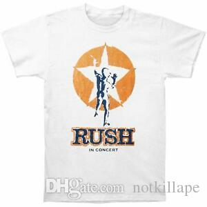 Authentisches RUSH Tour of UK 1978 Slim Fit T-Shirt Weiß S M L NEU