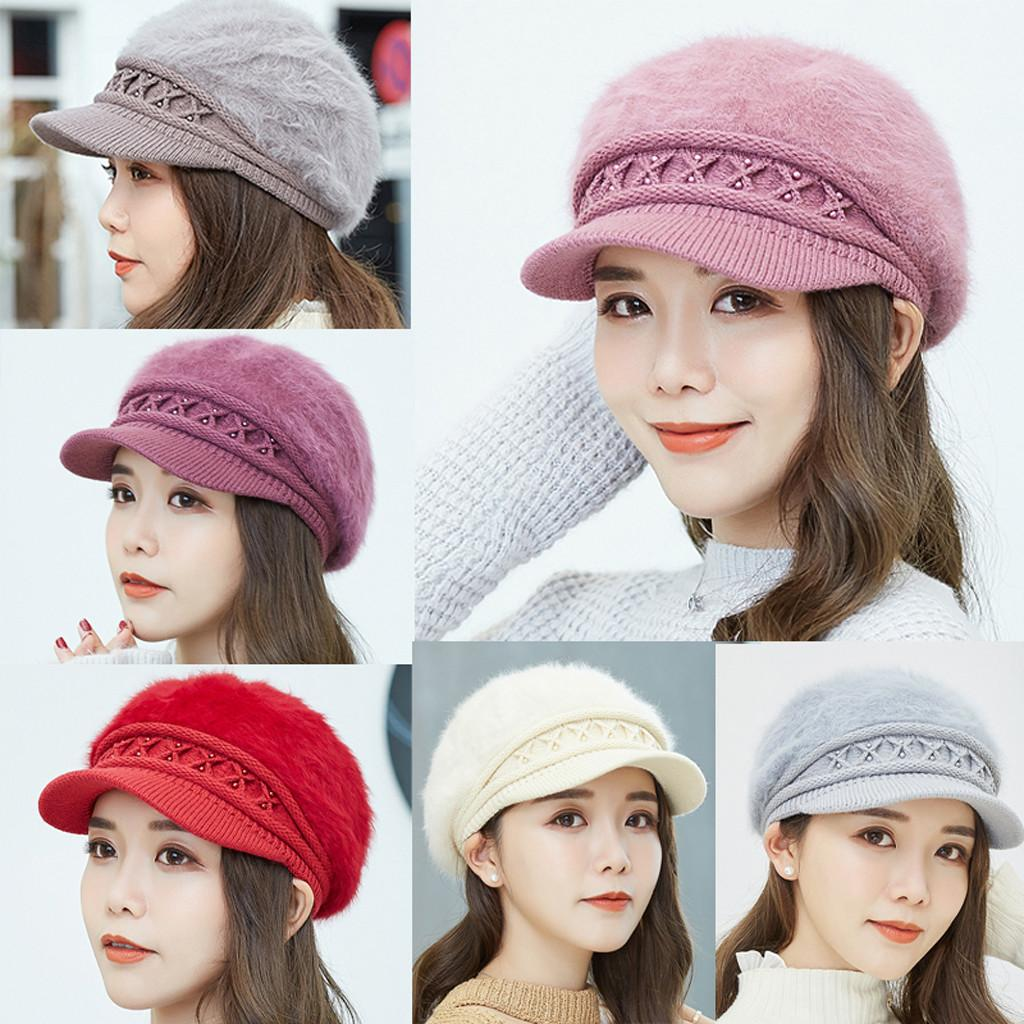 d0d5aaf4 Colorful Female Women Winter Warm Solid Cotton Cap Knitted Hat Beret Baggy Beanie  Hat Slouch Ski Caps #15 Berets Cheap Berets Colorful Female Women Winter ...
