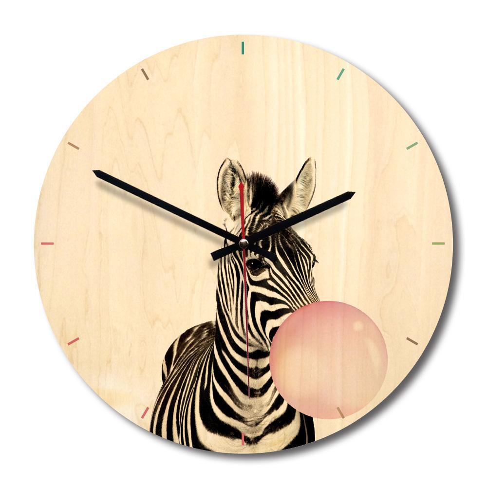 Art Wood Wall Clocks Animals For Living Room Wall Decor Mute Quartz Clock Home Decoration