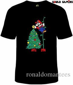 Super Mario Brothers Christmas T Shirt Unisex Cotton Video Game Switch Brand New