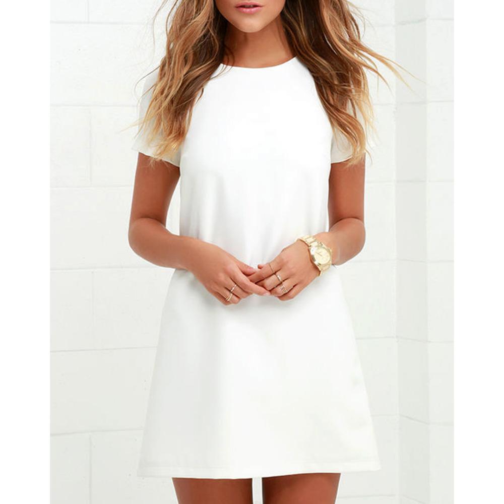 amplia gama modelos de gran variedad nuevo estilo Vestido de oficina Sexy para mujer Ropa de trabajo Más tamaño Elegante  Vestido blanco Verano de manga corta Bodycon Vestido corto informal  diseñador ...