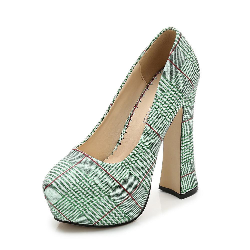 a494f55a815 Dress Poadisfoo 2019 Women Pumps Waterproof Platform Houndstooth High Heels  Ladies Elegant Temperament Style Supply Wz Y14 8 High Heels Heels From  Deals33