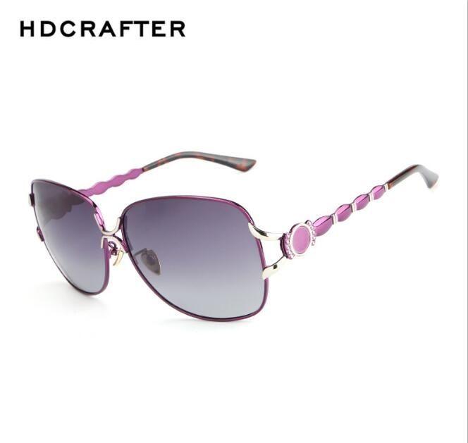 58438ac6c010 HDCRAFTER Women s Luxury Designer Polarized Sunglasses Fashion ...