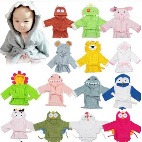 Cotton Baby Pajamas Funny 3D Cartoon Animal Printed Rompers Fashion Kid Bathrobe Winter Thickened Warm Bed Gown WY388Q