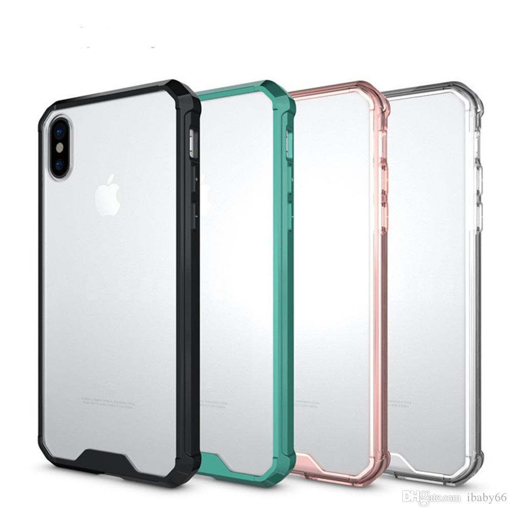 aa66c8fa0b5 Compre Caso Acrílico À Prova De Choque Para O Iphone Xr X Xs Max Plus 10 8 7  6 6 S Nota Galaxy 9 Nota9 S9 Duro Tpu Híbrido De Ibaby66, $0.81    Pt.Dhgate.Com