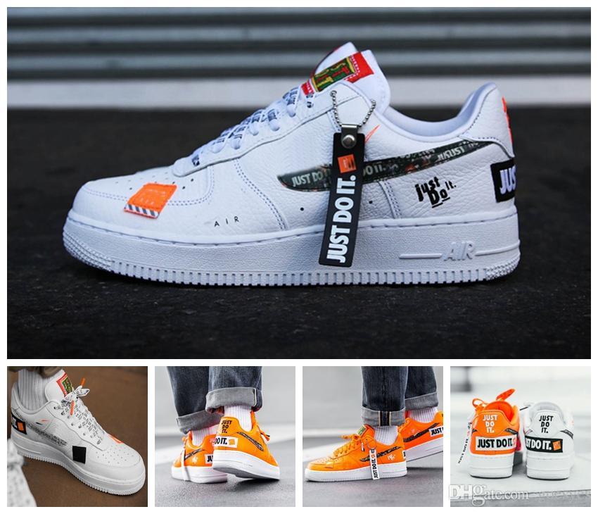 best service ac1f8 a1521 2019 Nuevos Chaussures Nike Air Force 1 Forces Low 1 Hombres Mujeres Zapatos  Para Correr Naranja Uno UTILIDAD Blanco Negro Solo Hazlo Forzado 1s ...