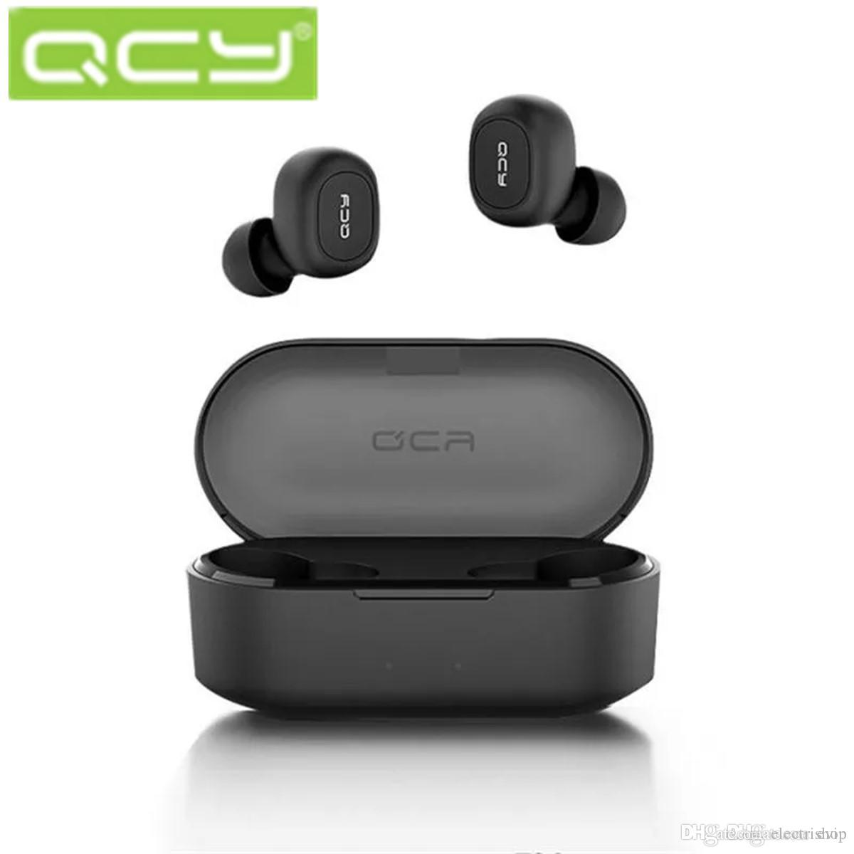 Promotion 2019 QCY T2C Bluetooth Earphones True Wireless Stereo Headsets For Mobile Phones Earphones