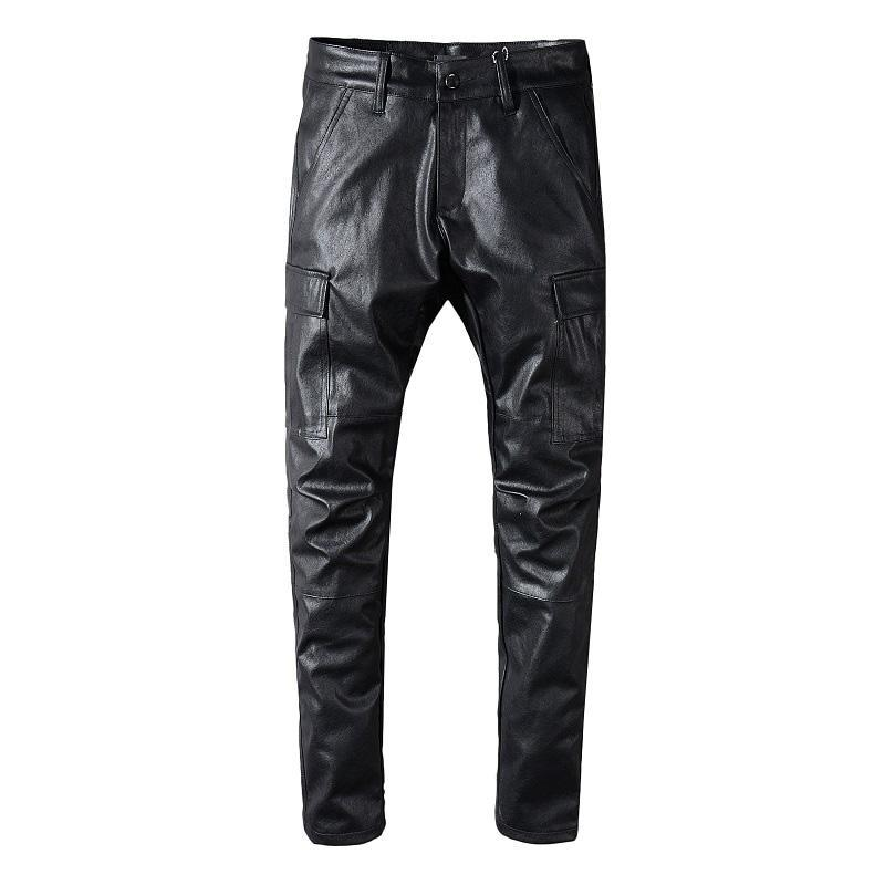 Fashion Brand Mens Designer Pants Men Women High Quality PU Leather Pants Hip Hop All-match Black Pants Sweatpants