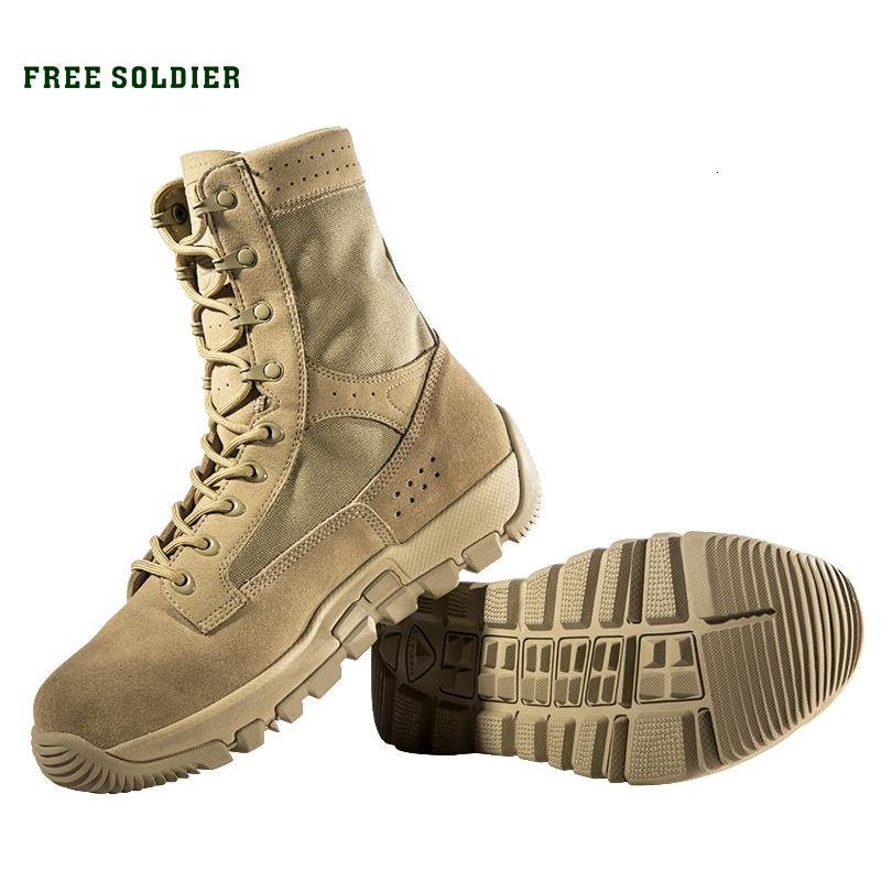 FREE SOLDIER outdoor sports tactical wear-resistant breathable boot hiking camping shoes for men T190920